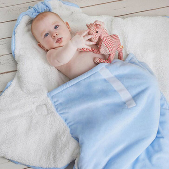 Baby Blanket 2016 New Super Soft Coral Fleece Parisarc Newborn Swaddle Thick Winter Warm  Sleeping bag 80*80 Sleepsack 0-12Month