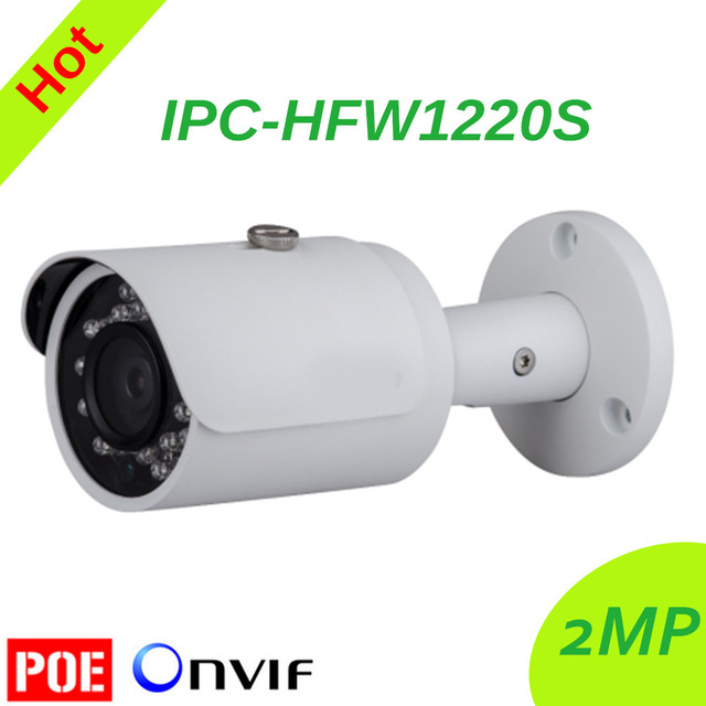 Freeship DH IPC-HFW1220S IR HD 1080p IP Camera Security Outdoor 2MP Network IR Bullet Mini Camera Support POE DH-IPC-HFW1220S