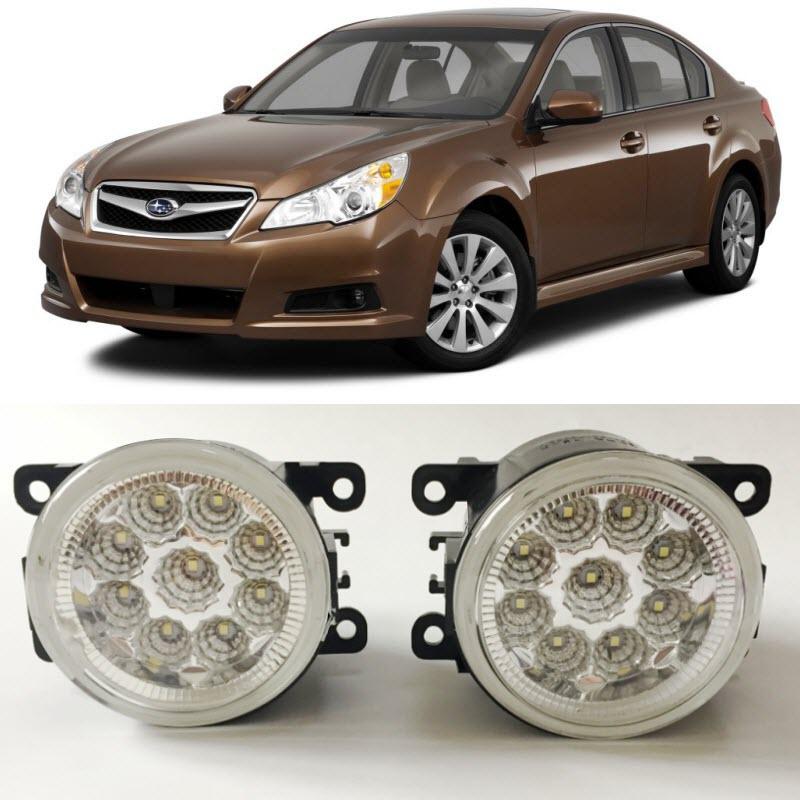 Car-Styling For Subaru Legacy 2010 2011 2012 SMD 9-Pieces Leds Chips LED Fog Light Lamp H11 H8 12V 55W Halogen Fog Lights