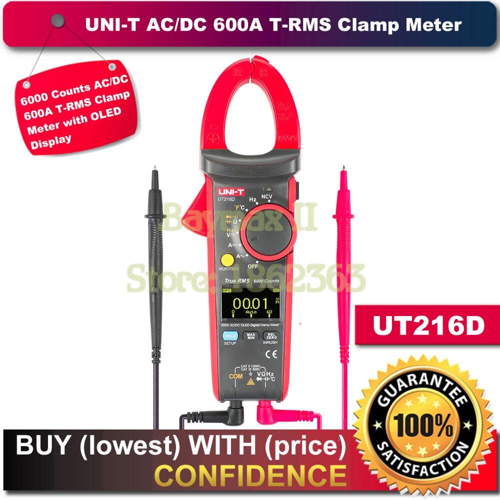 UNI T OLED ディスプレイ UT216D 6000 カウント 600A AC/DC T RMS デジタルクランプメーターためオーム静電容量測定温度 NCV テスター  グループ上の ツール からの マルチメータ の中 1