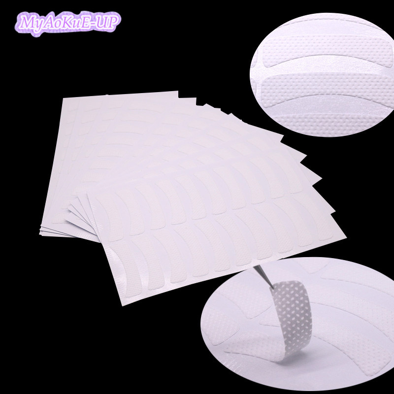 20pcs Eye Stickers Paper Patches Under Eye Pads For Eyelash Extension Fabrics Pads Patches Adhesive Eye Tape Wraps Make Up Tools