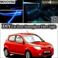 For Proton Savvy Interior Ambient Light Tuning Atmosphere Fiber Optic Band Lights Inside Door Panel Illumination