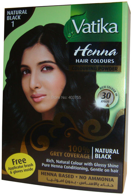 Free Shippping Dabur Vatika Henna Hair Dye Powder Natural Black