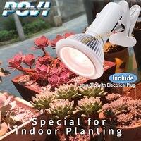 POVI Full spectrum Cresce A luz LED 18 W E27 LEVOU Crescer lâmpada para plantas de Flor Hidroponia sistema AC indoor plantio