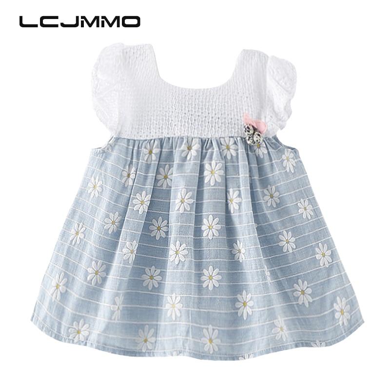 2017 Casual Cotton Baby Girl Dress Summer O-neck Sleeveless Girls Clothes Dress for Newborns Wedding Party Princess Vestidos