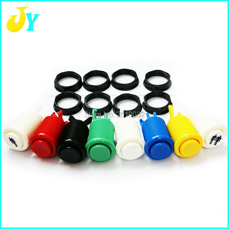 100Pcs 28MM Standard Arcade Push Button with Microswitch Happ Style 50Pcs