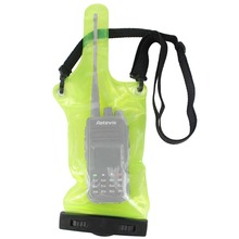 Green Walkie Talkie Accessories Waterproof Sets/Holster for Universal Portable Two Way Radio Amador Communicator J6309G