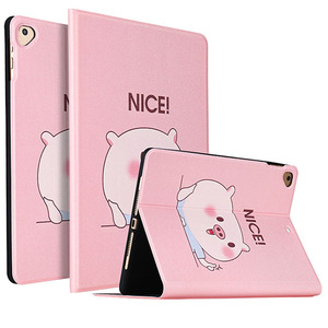 "Cartoon PU Leather tablet Case For ipad Air 3 10.5"" 2019 Cute pig Cover Smart Folio Auto Wake Stand Case For ipad pro 10.5"" 2017"