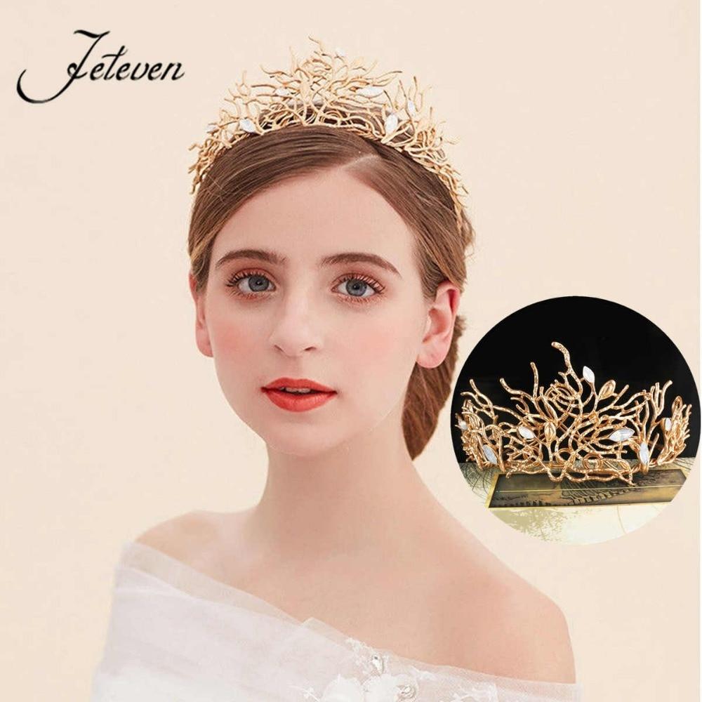 Bride Wedding Crown: Aliexpress.com : Buy Leaf Baroque Queen Crown Bridal Tiara