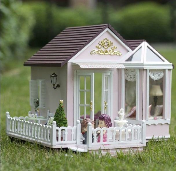 Miniature House Model DIY Kit WITH LIGHT AND MUSIC Nice Home Dream House  Romantic House