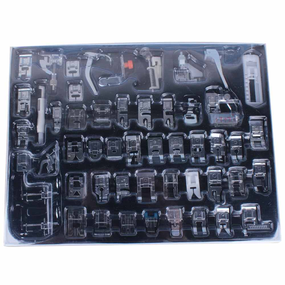 32/42/48/52pcs Sewing Machine Press Foot DIY Presser Rolled Hem Feet Stitch Brother Singer Baby Lock Janome Sewing Accessories