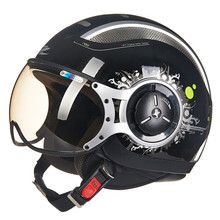 MOMO Style Chopper Pilot Motorcycle helmet Capacetes Motociclismo 218D Cascos Para Moto Casque Motorhelm Open Face Helmets