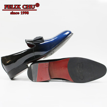 HIGH GRADE LUXURY GENUINE LEATHER MEN WEDDING SHOES BOW TIE PLAIN TOE CASUAL BUNQUET PARTY FORMAL LOAFERS -SUMMER 2019