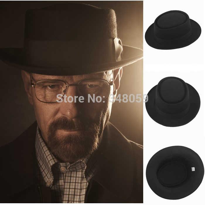 2015 Fashion Men Wool Classic Felt Pork Pie Porkpie fedora Hat Chapea Cap  Upturn Masculino summer 043b697fe86