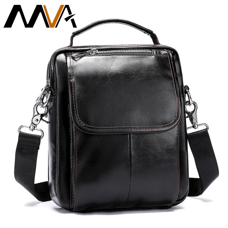 3168f4142d MVA Genuine Leather Men Bag Mini Messenger Bag Men s Shoulder Bags Male  Crossbody Bags Handle-top Small Shoulder Handbags 9024