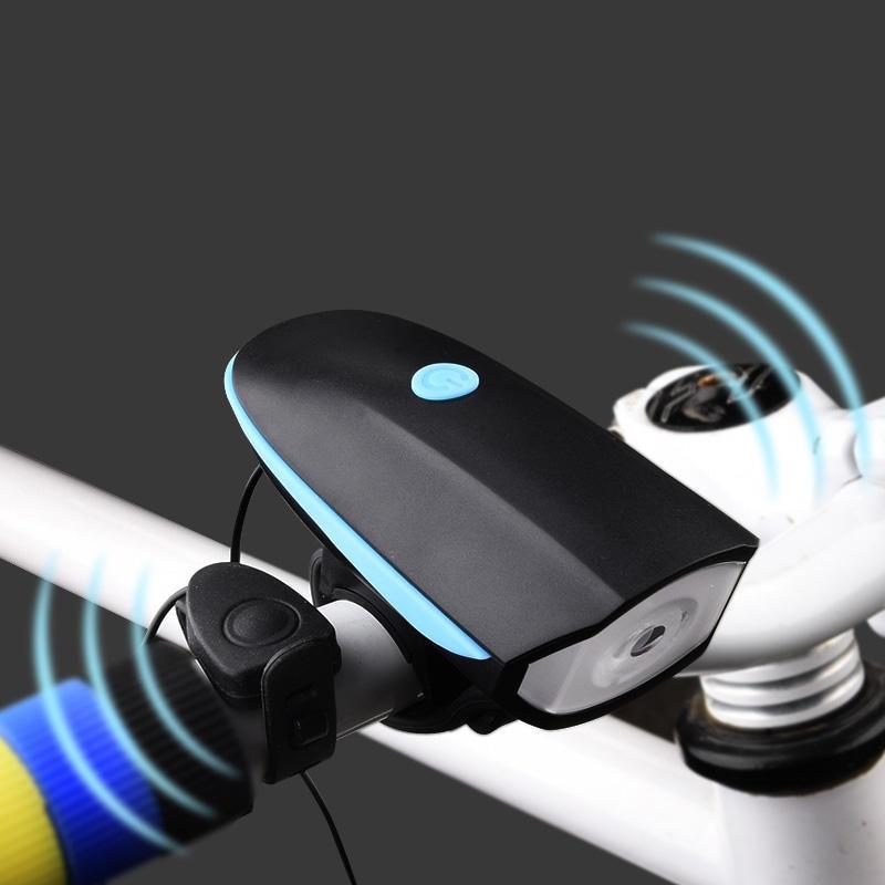 2 in 1 USB Ricaricabile Luce Della Bicicletta Testa della Torcia A LED Con Campana Luces Bicicleta Multifunzione MTB Ciclismo Lampada Del Faro