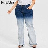 PlusMiss Plus Size 5XL Vintage Tie Dye Breed Been Mom Jeans Femme Vrouwen Kleding Big Size Hoge Taille Losse Denim Broek 2018 dames