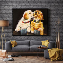 Cute Puppy Wall Painting 5D Diamond DIY Handmade Round Full Embroidery Cross Stitch