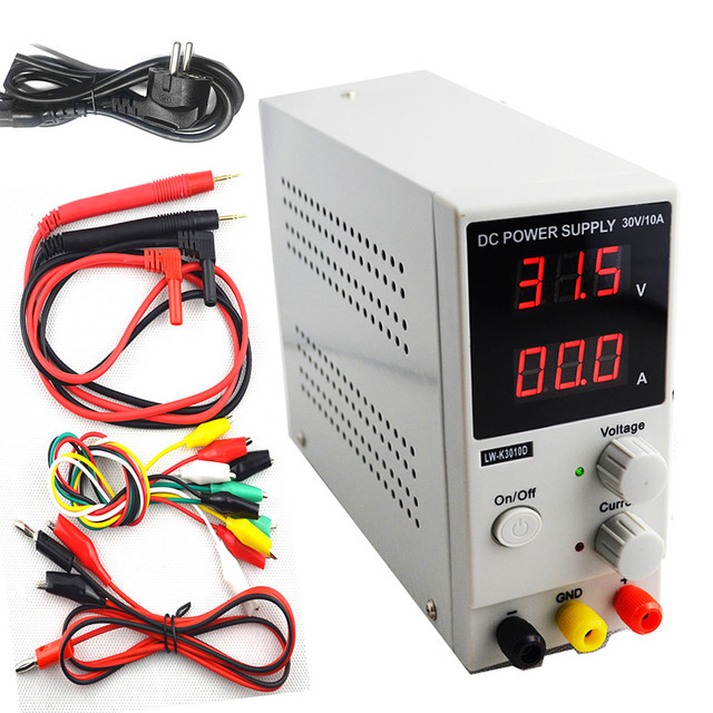 Mini Adjustable Digital DC power supply 30v 10a Switching Power ...