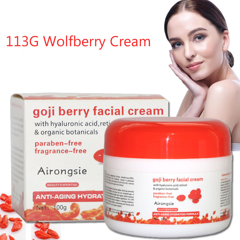 где купить Wolfberry Massage Cream goji Berry Facial Cream Whitening Moisturizing Anti Wrinkle Vitmin A Anti-aging Cream Skin Care Relax по лучшей цене