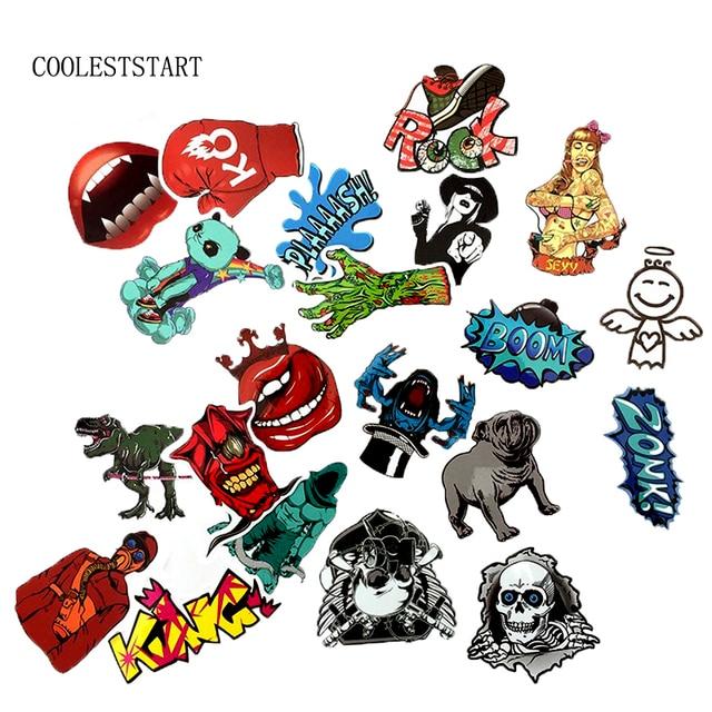 50-100 PCS Graffiti Retro Animal Creative Cool Waterproof Sticker for Suitcase Laptop Etc. 3
