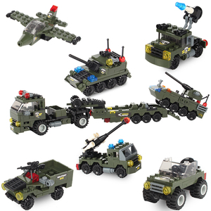 Image 3 - Military Building Block Assembly 8 in 1 Boy Aircraft Tank Explosion proof Special Police Armored Car Marine Corps Boy Toys