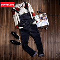 2016 Autum New Arrival Mens Stretched Denim Slim Straight Jeans Denim Overalls Stonewashed SuspenPants Male Bibs for Mens 273