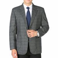Frühling herbst männlichen klage blazer vater tragen quinquagenarian herrenbekleidung mann lässig anzüge plus size kommerzielle einzel grau