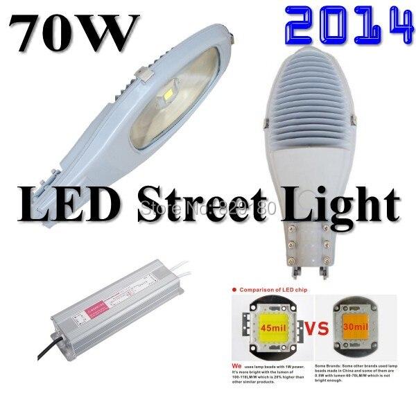 Vente en gros-lampe à LED pour route réverbère extérieur lumière usine ventes directes 70 w haute qualité ingénierie lumière AC 85-265 v IP65