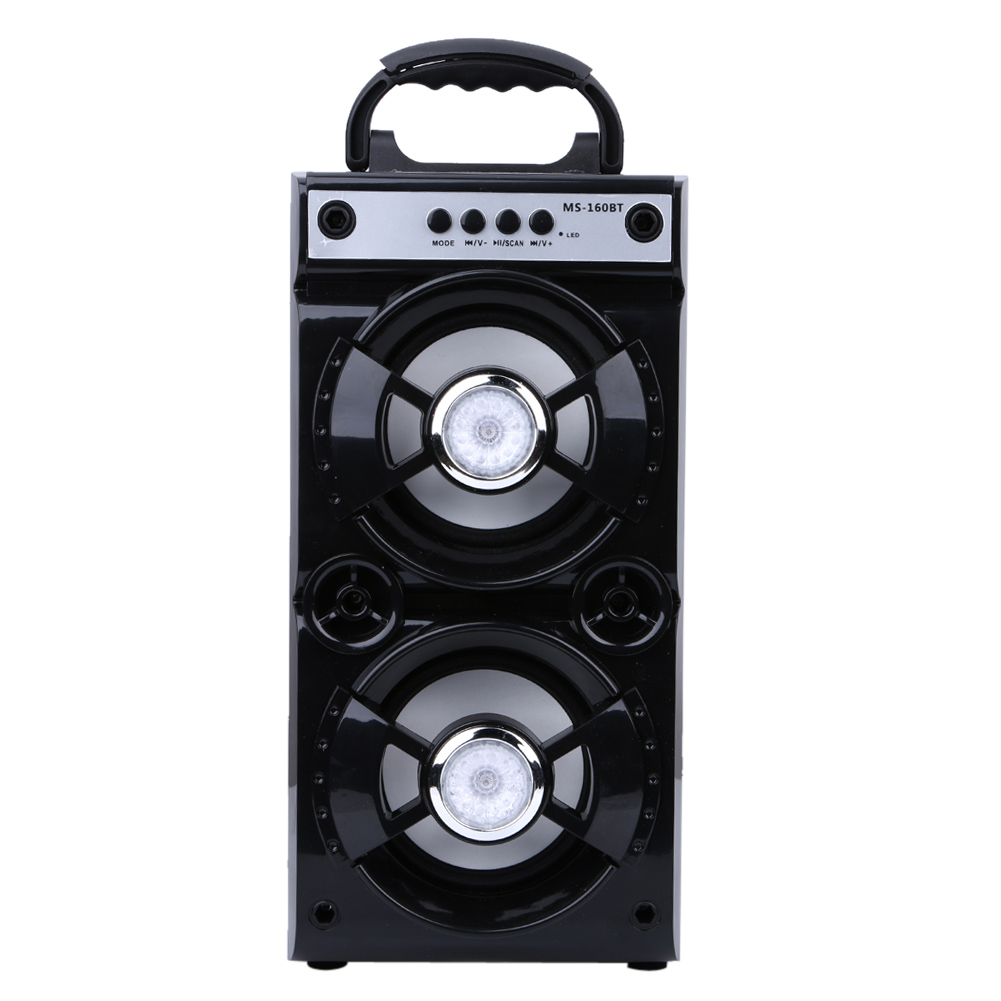 Portable Bluetooth Speaker Dual Speaker Indoor Outdoor Wireless Speakers with USB/TF/AUX/FM Radio for Desktop Laptop