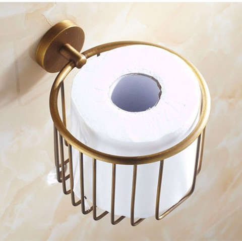 2016 New Arrival! Bathroom Accessories Antique Brass Finish Toilet Roll Holder,Toilet Paper Holder, Bronze WC Paper Basket wall mounted antique bronze finish bathroom accessories toilet paper holder bathroom toilet paper roll holder tissue holder