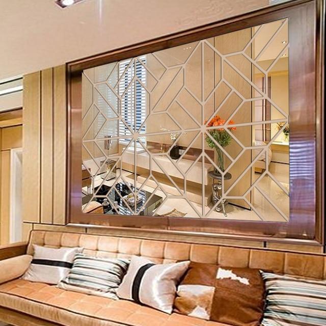 Diy Acryl Spiegel Wand Dekor Kunst 3d Spiegel Wirkung Wand Aufkleber