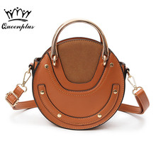 2017 new package embroidery cat small round bag Korean version of the cute handbag fashion chain shoulder bag Messenger bag