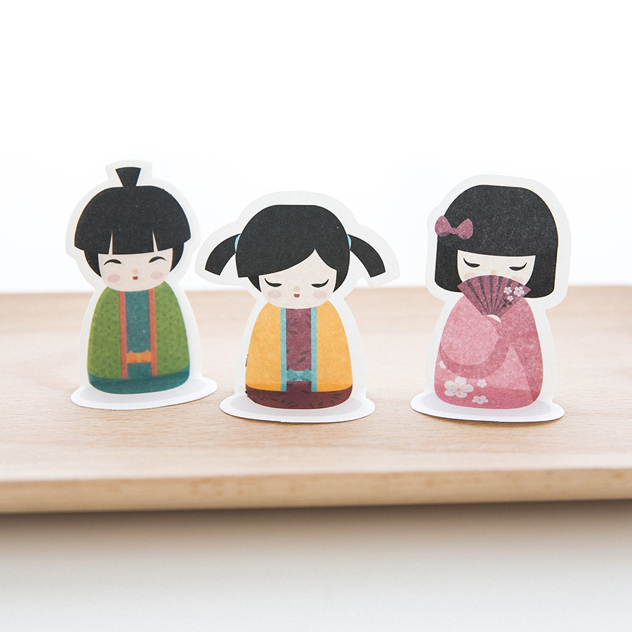 4 pcs/Lot Baby doll sticky notes and memo pads Kawaii japanese post sticker for book office accessories School supplies DM491