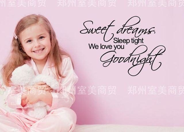 sweet dreams baby wall sticker goodnight nursery quote decal art