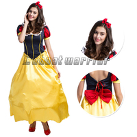 Princess Snow White cosplay costume Snow White fancy dress for adult girl with headband and petticoat