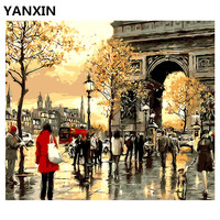 YANXIN DIY Frame Painting By Numbers Oil Paint Wall Art Pictures Decor For Home Decoration E576