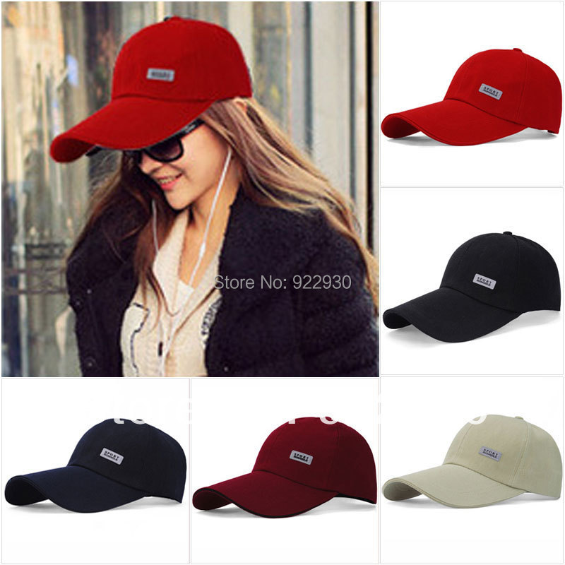 Mens Womens Sport Baseball Caps Plain Adjustable Hat Curved Visor Golf Peak  brand fitted football basketball cap 10f2e6cbb03