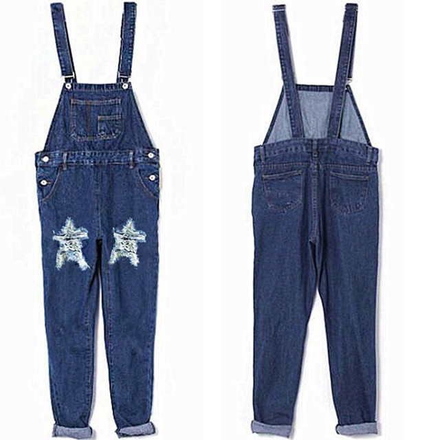 ba7d74986237 Women Autumn Winter Stonewash Destroyed Denim Dungarees Jumpsuit Ladies  Overalls Casual Skinny Girls Jeans Pants Rompers H344