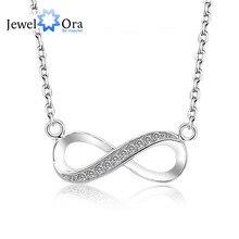 $ Number En Forma de Collares y Colgantes Joyería de Las Mujeres de Calidad Superior de la marca Infinity 925 Collar Colgante de Plata (JewelOra NE100709)