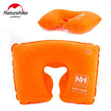 NatureHike U-Shaped Inflatable Flocking Fabric Neck Pillow
