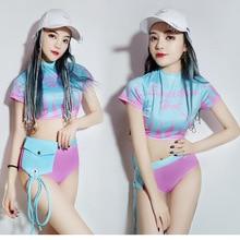 Jazz Hip Hop danza disfraces Sexy Nightclub DJ DS escenario para cantantes  ropa desgaste del funcionamiento ropa Pole Dance traj. 4fd30880d75