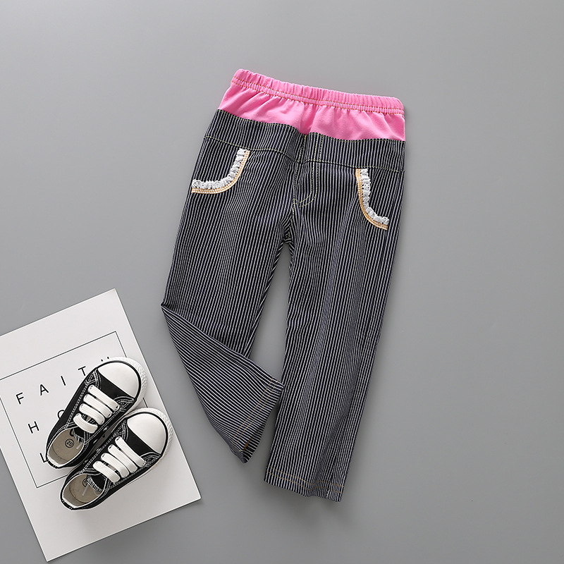 new winter trousers of Europe and the United States children loop Color matching loop pants Panty sell like hot cakes