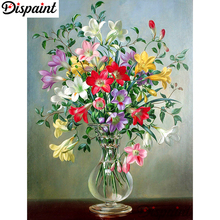 Dispaint Full Square/Round Drill 5D DIY Diamond Painting Flower landscape 3D Embroidery Cross Stitch Home Decor Gift A10081 телевизор hyundai h led32r401ws2 цвет белый