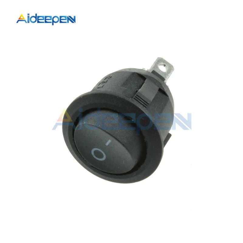AC 250 V 6A 125 V 10A Mini 3 Pin Светодиодный выключатель света автомобиля лодка круглый Кулисный вкл/выкл кнопка-переключатель синий желтый красный зеленый черный