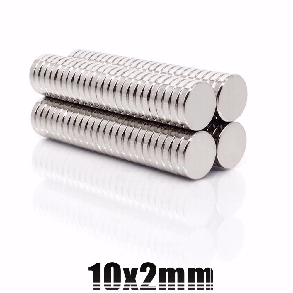 10/20/50/100pcs 10x2mm Super Powerful Strong Bulk Round NdFeB Neodymium Disc Magnets Dia 10mm X 2mm N35 Rare Earth Magnet 10*2