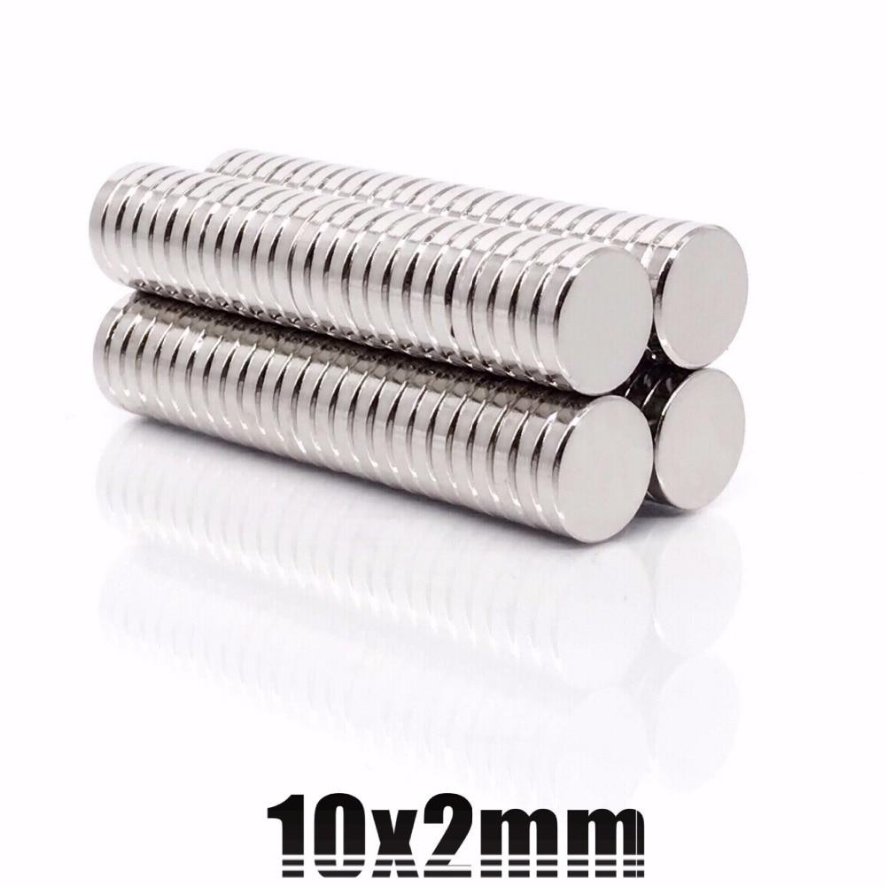 50-100Pcs Super Strong Round Disc 10x1mm 10x2mm Magnets Rare-Earth Neodymium N35