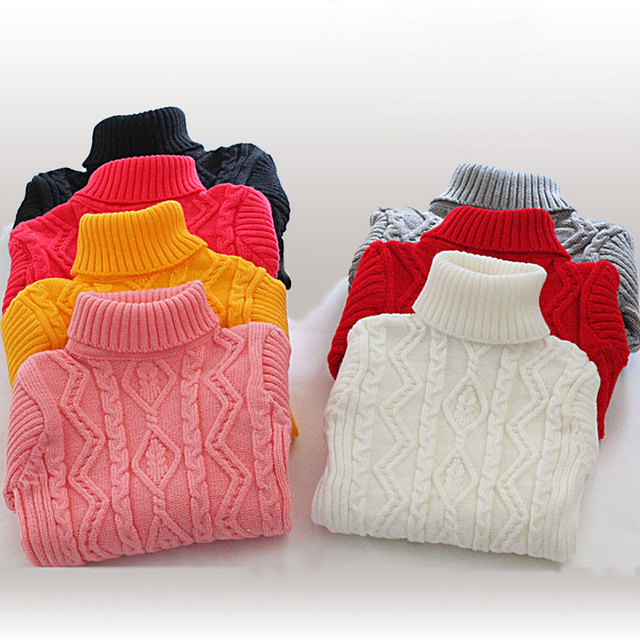 Buenos Ninos Children Autumn/Winter Turtleneck Sweater Baby And Girl Sweater Kids Clothes