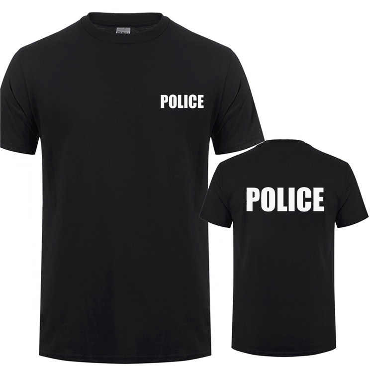 POLITIE SWAT SECURITY Printing T-Shirt Voor Man Vrouw CSI Fancy Dress Novelty Cops Werkkleding Korte Mouw T-shirt Tee