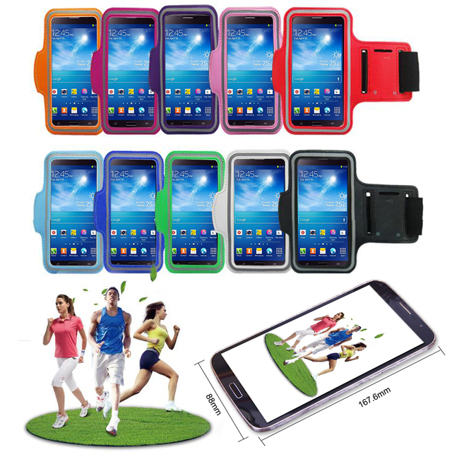 6.3 Inch Universal Mobile Phone Sweatproof Waterproof Jogging Running Arm band Holder Case Outdoor Sports phone Case Bag Pouch